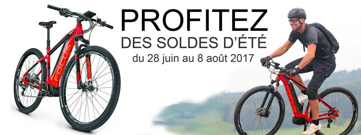 du 28 juin au 8 août 2017, chez AC-Emotion, profitez des soldes sur les vélos électriques Focus
